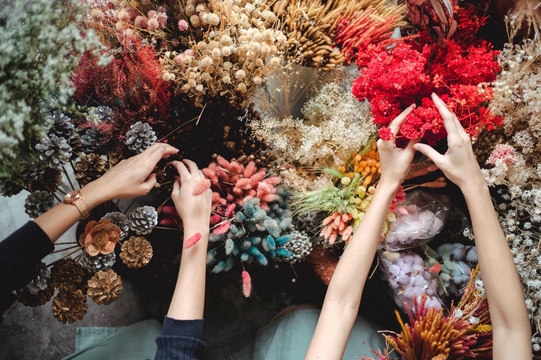 【台北乾燥花DIY課程】手作乾燥花束花圈超簡單!6間台北乾燥花製作推薦花藝教室